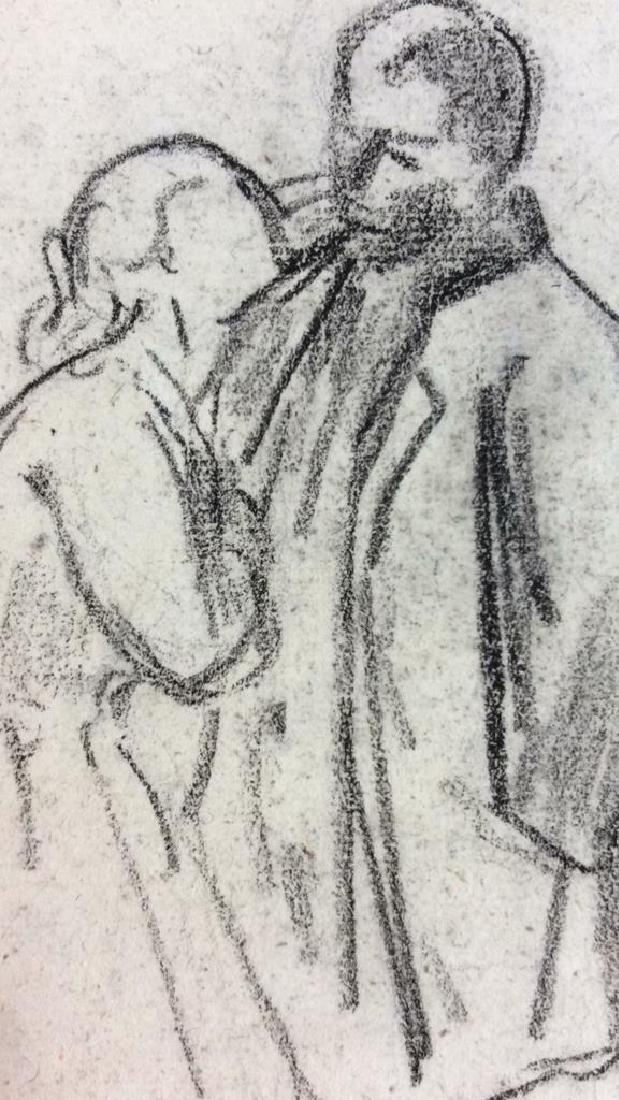 Lot 5 Abel Damourette Charcoal Sketches, France - 2