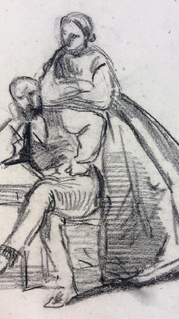 Lot 5 Abel Damourette Charcoal Sketches, France - 3