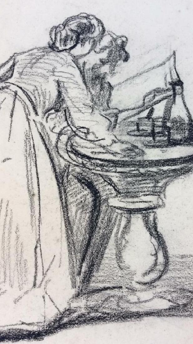Lot 5 Abel Damourette Charcoal Sketches, France - 4