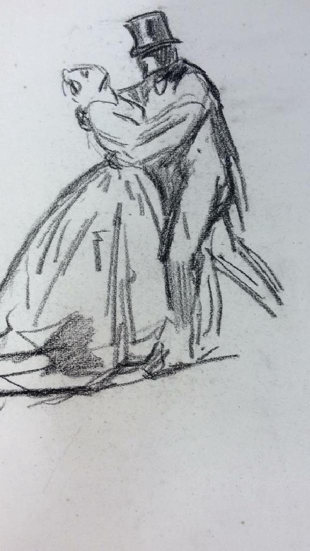 Lot 5 Abel Damourette Charcoal Sketches, France - 5
