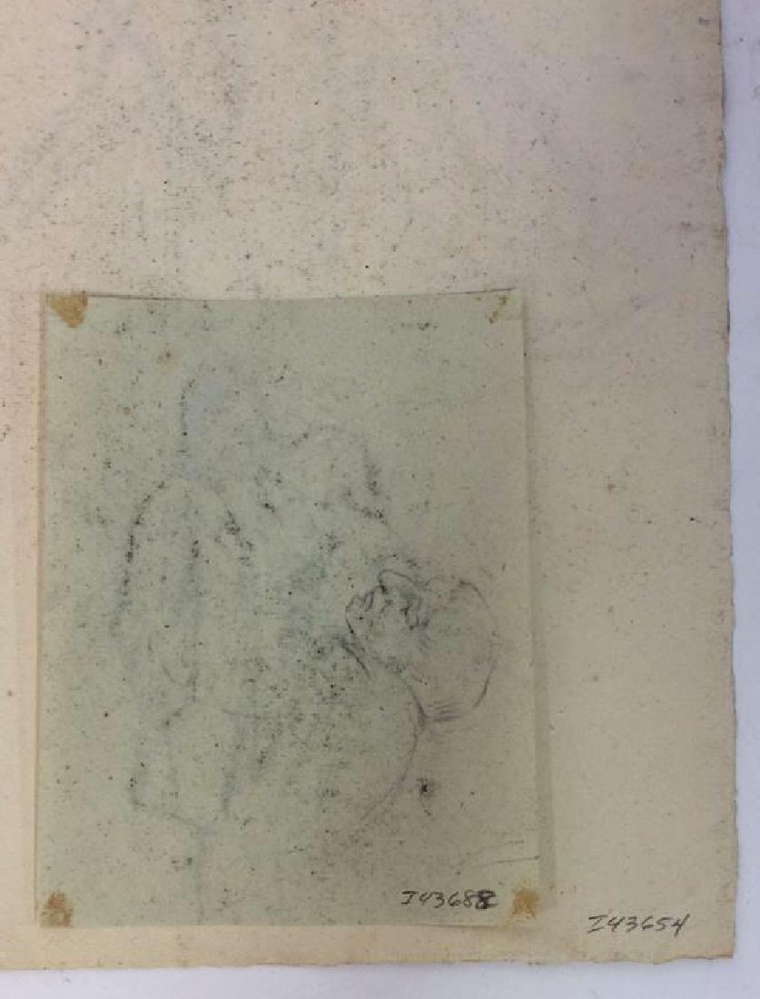 Lot 5 Abel Damourette Charcoal Sketches, France - 7