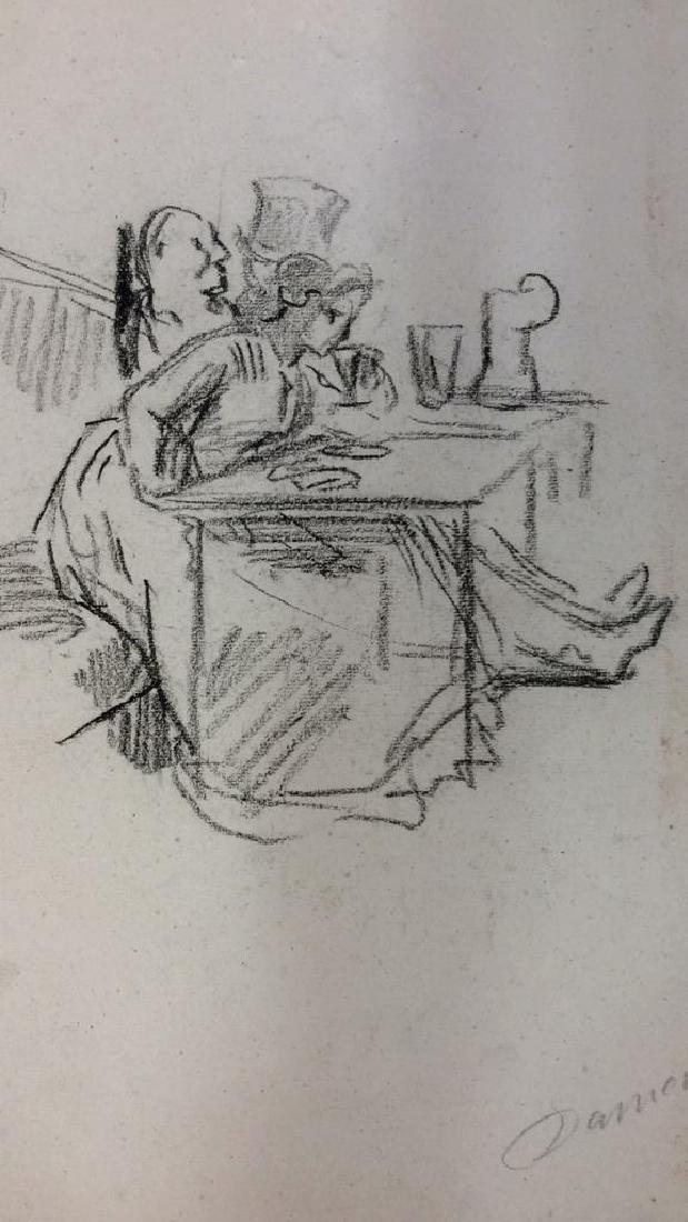 Lot 4 Abel Damourette Charcoal Sketches, France - 3