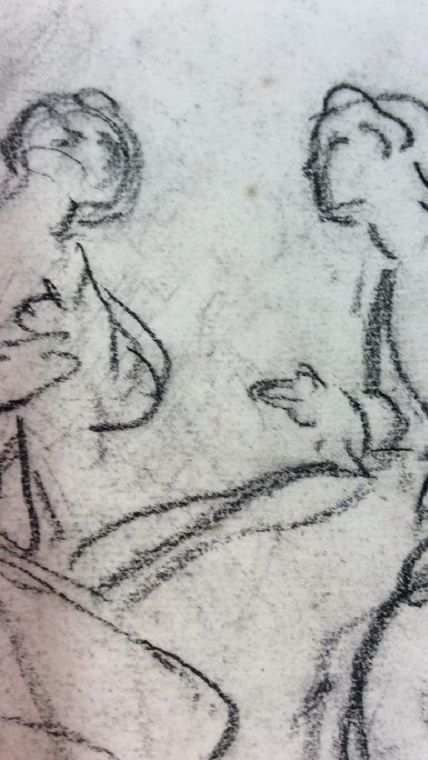 Lot 4 Abel Damourette Charcoal Sketches, France - 6