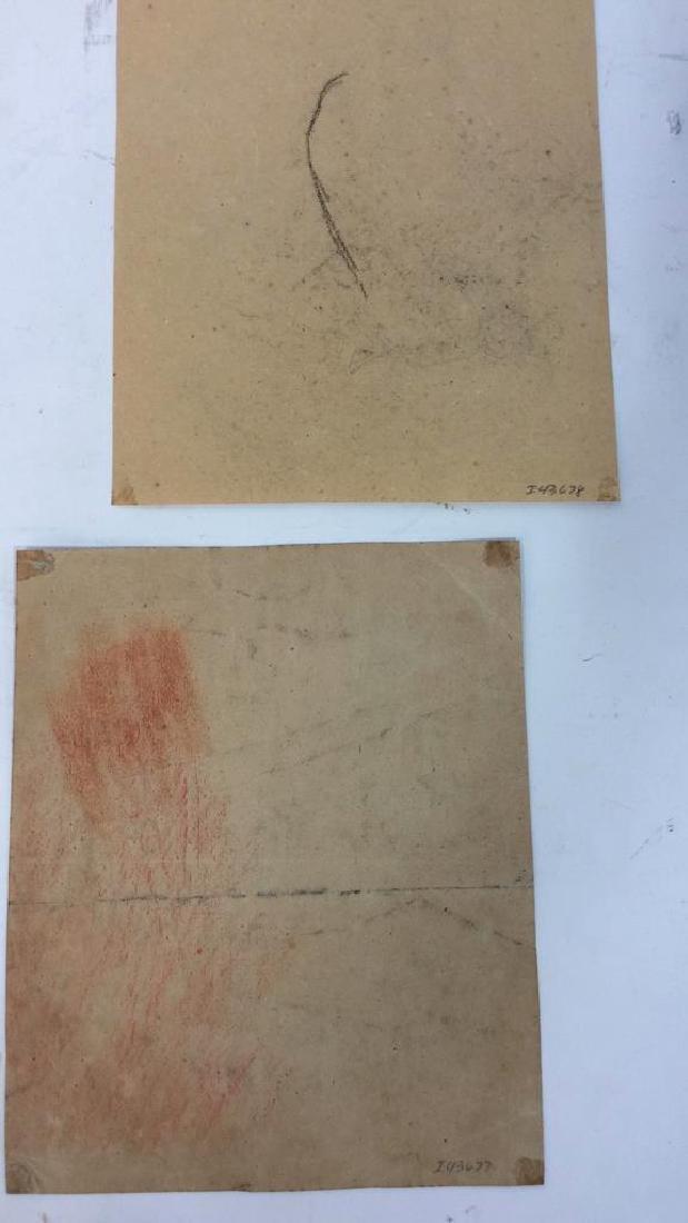 Lot 4 Abel Damourette Charcoal Sketches, France - 10