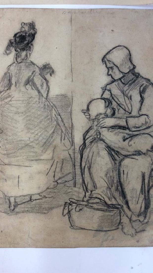 Lot 4 Abel Damourette Charcoal Sketches, France - 2