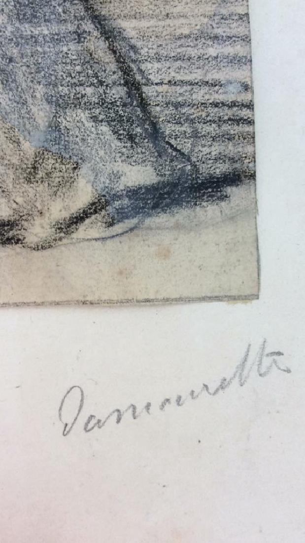 Lot 4 Abel Damourette Charcoal Sketches, France - 7
