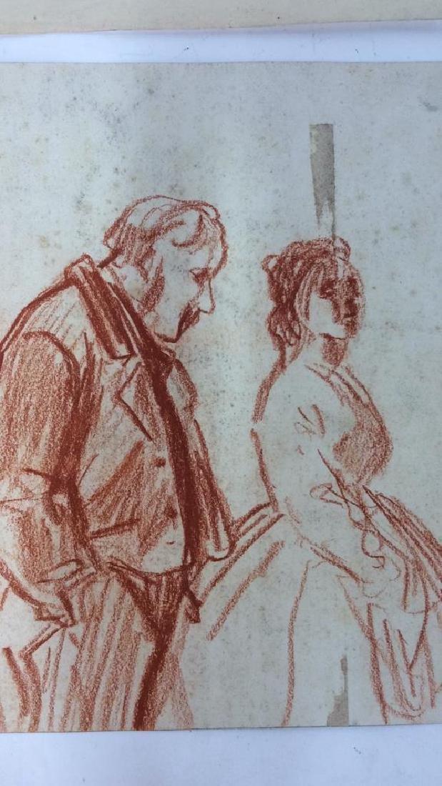 Lot 4 Abel Damourette Charcoal Sketches, France - 8