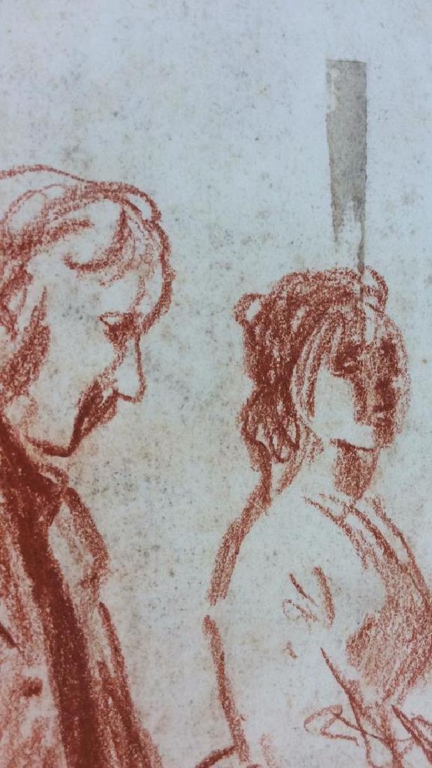 Lot 4 Abel Damourette Charcoal Sketches, France - 9