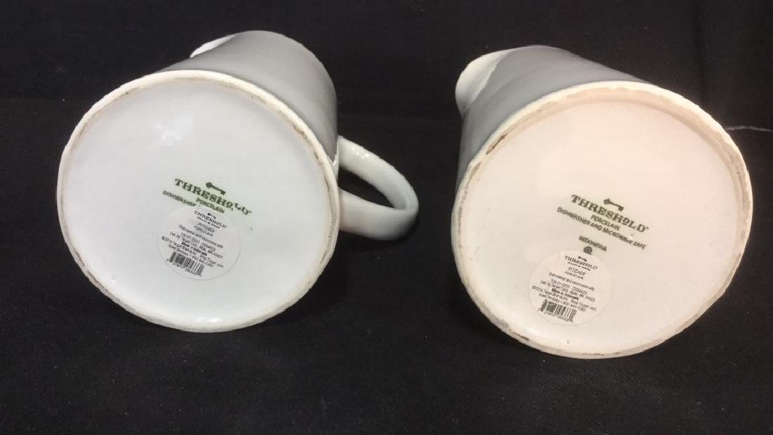 Pair Of Threshold White Porcelain Pitchers - 5