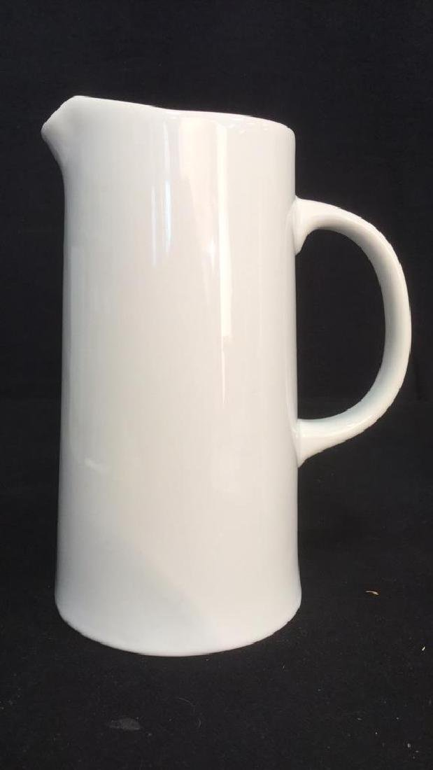 Pair Of Threshold White Porcelain Pitchers - 6