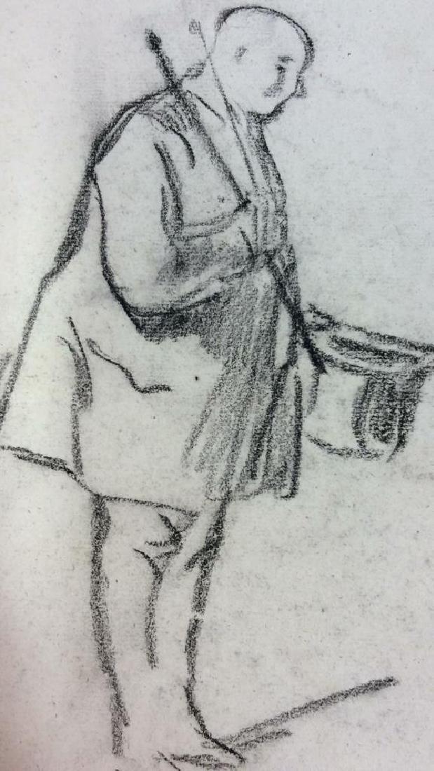 Lot 3 Abel Damourette Charcoal Sketches, France - 2