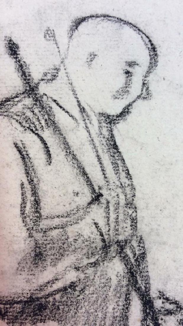 Lot 3 Abel Damourette Charcoal Sketches, France - 3