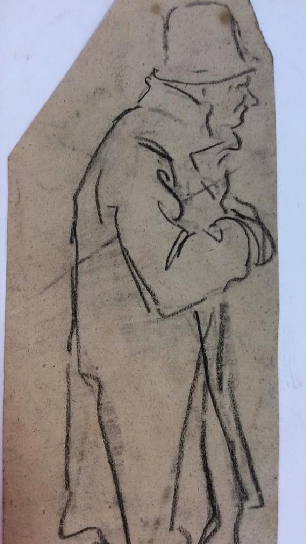 Lot 3 Abel Damourette Charcoal Sketches, France - 4