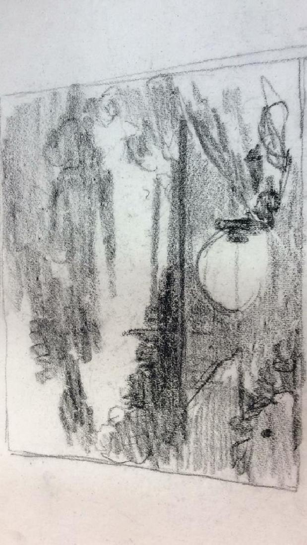 Lot 3 Abel Damourette Charcoal Sketches, France - 6