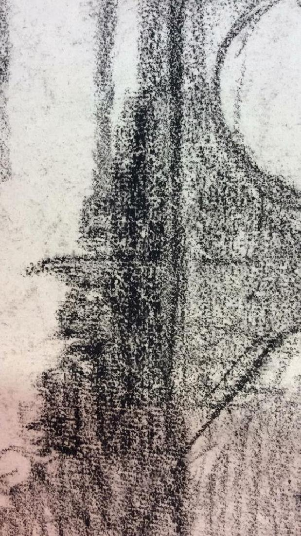 Lot 3 Abel Damourette Charcoal Sketches, France - 7