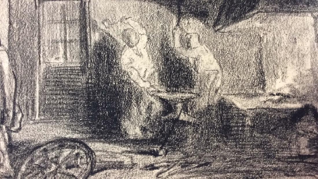 Lot 2 Abel Damourette Charcoal Sketches - 2