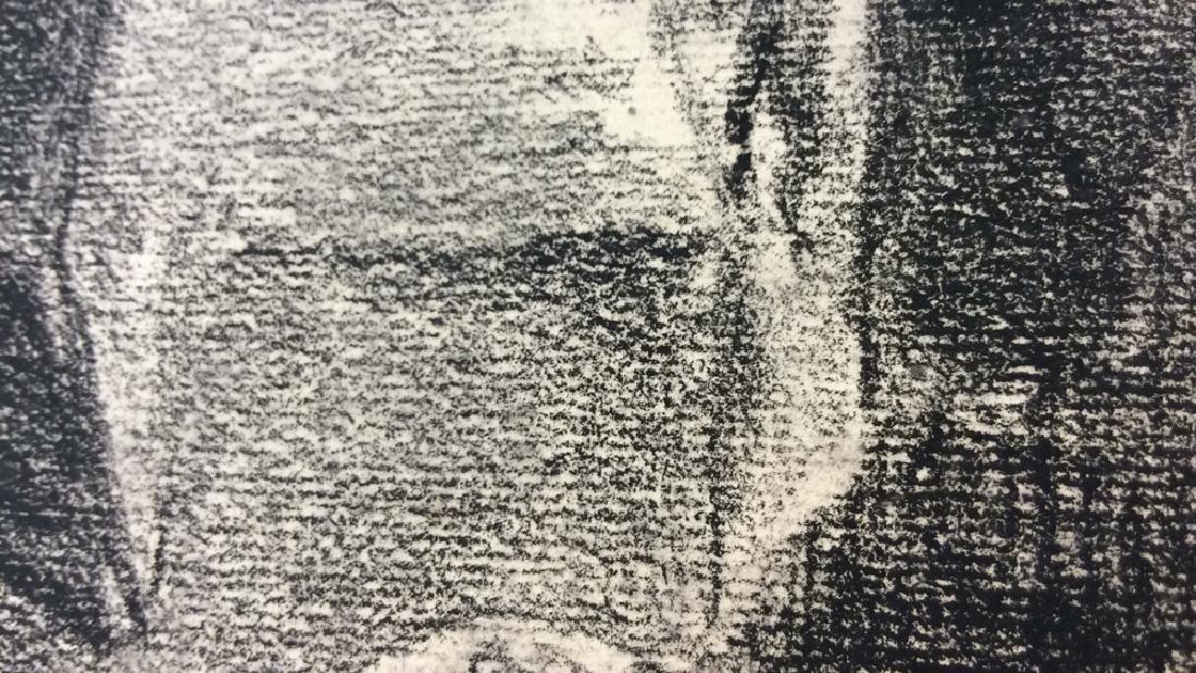 Lot 2 Abel Damourette Charcoal Sketches - 4