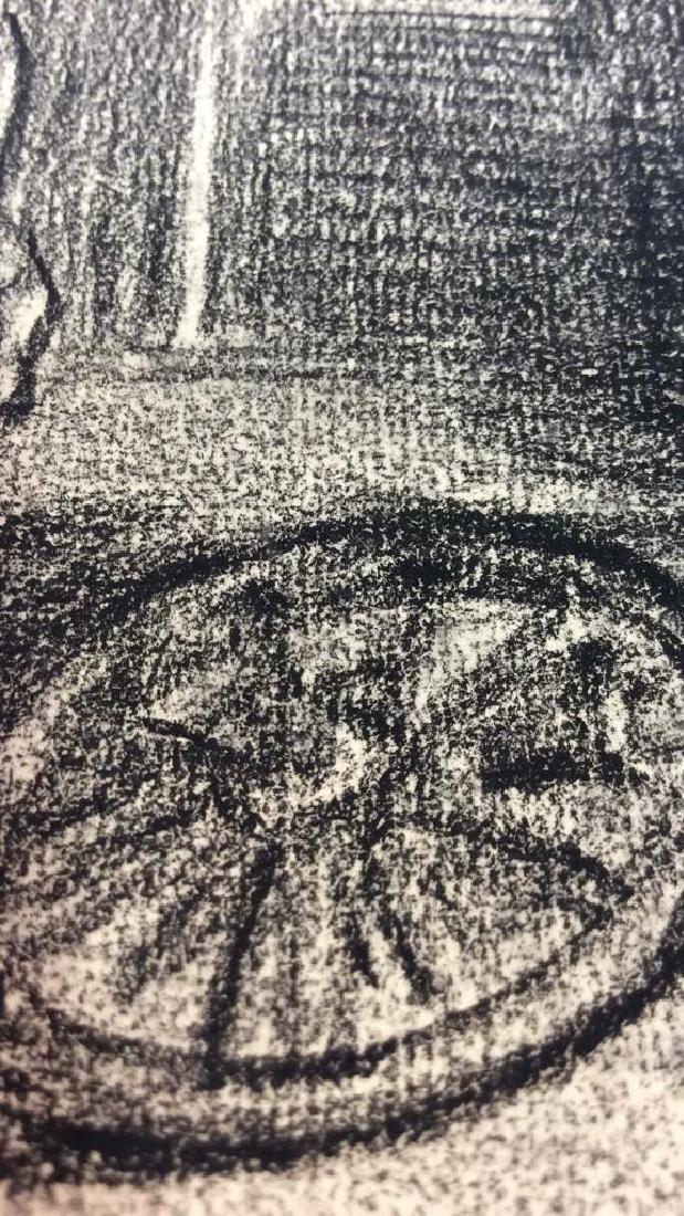 Lot 2 Abel Damourette Charcoal Sketches - 5
