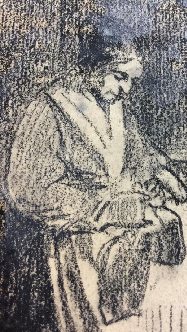 Lot 2 Abel Damourette Charcoal Sketches - 8
