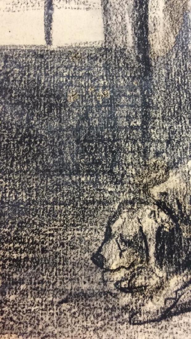 Lot 2 Abel Damourette Charcoal Sketches - 9