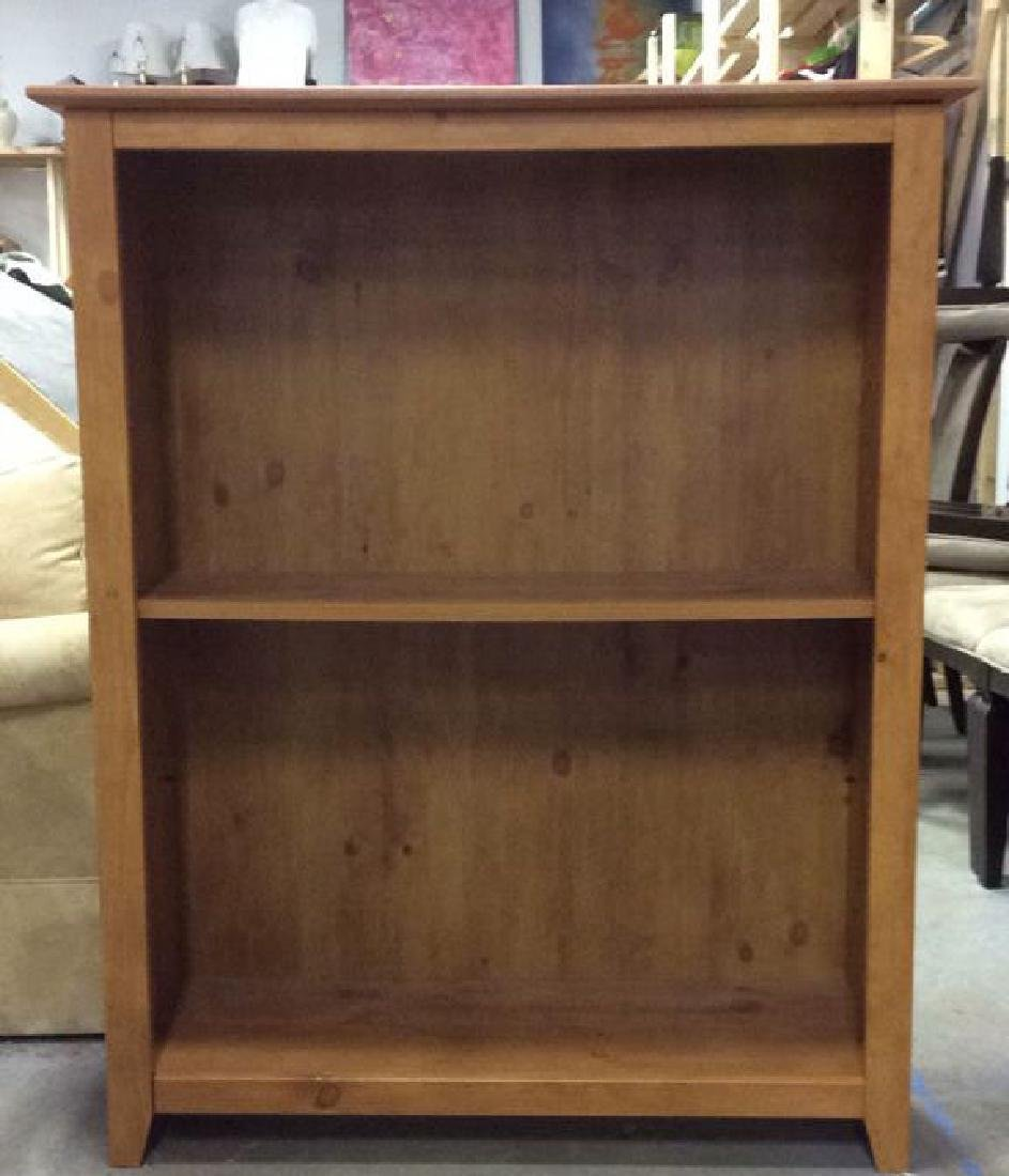 Dark Tan Toned Wooden Bookshelf