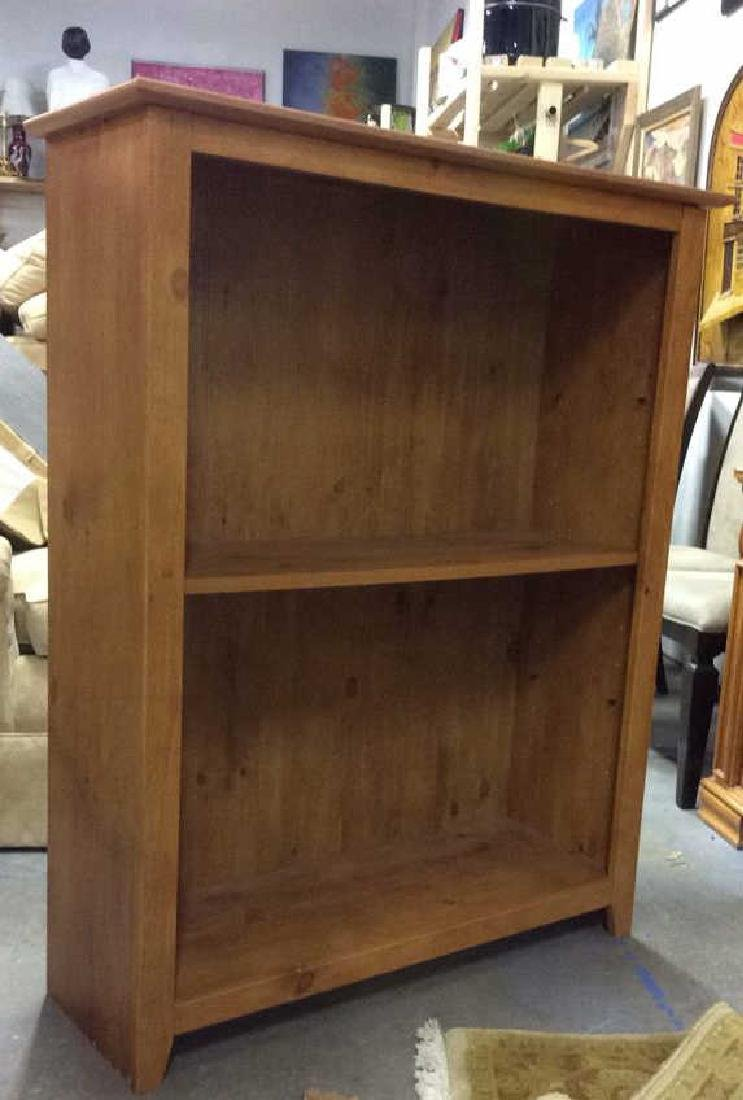 Dark Tan Toned Wooden Bookshelf - 2