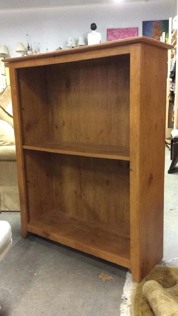 Dark Tan Toned Wooden Bookshelf - 3