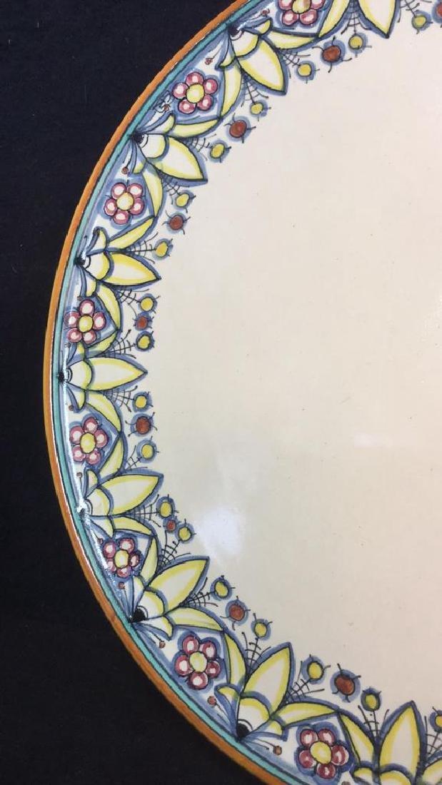 Italian Hand Painted Ceramic Platter - 2