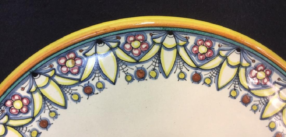 Italian Hand Painted Ceramic Platter - 3