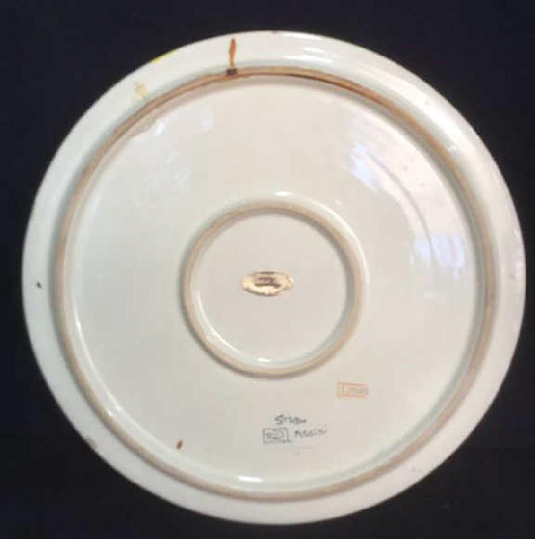 Italian Hand Painted Ceramic Platter - 4
