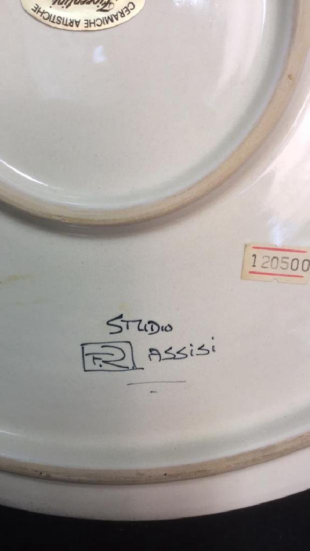 Italian Hand Painted Ceramic Platter - 5