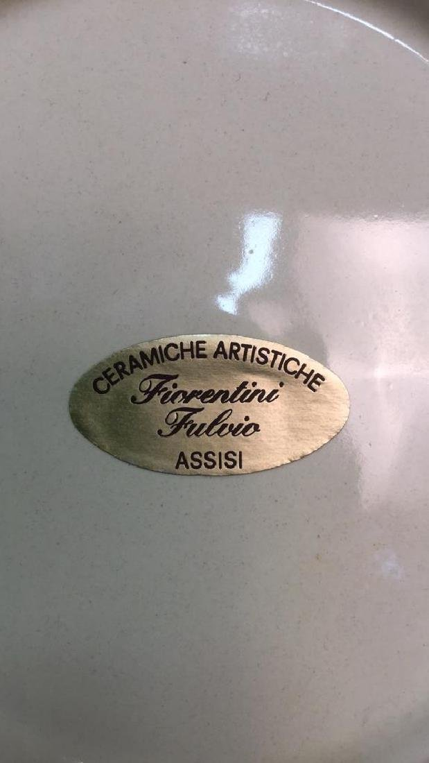 Italian Hand Painted Ceramic Platter - 6