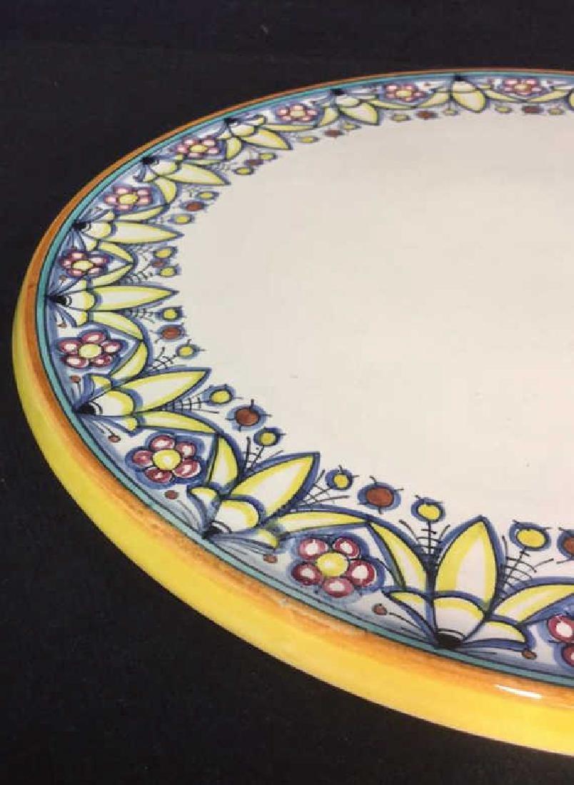 Italian Hand Painted Ceramic Platter - 7
