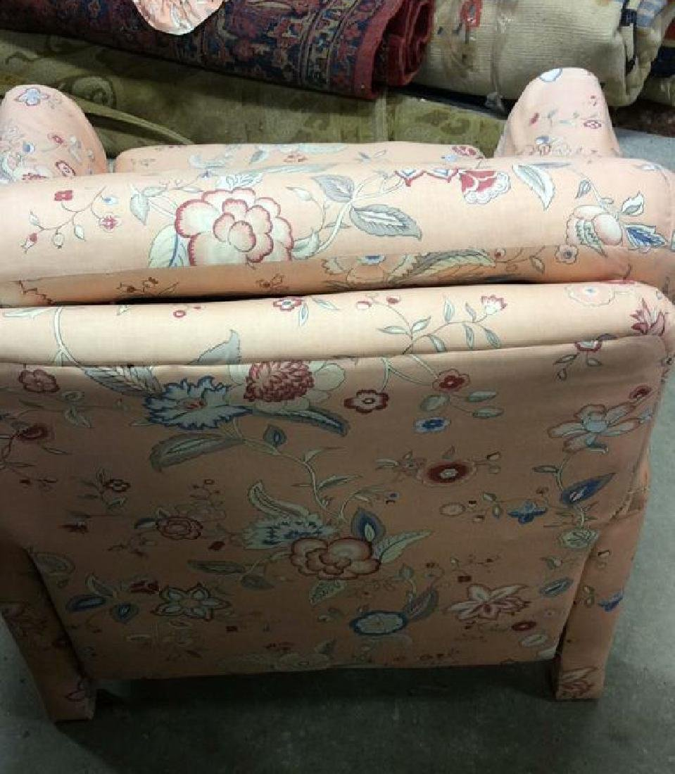 Peach Toned Floral Pattern Upholstered Recliner - 8