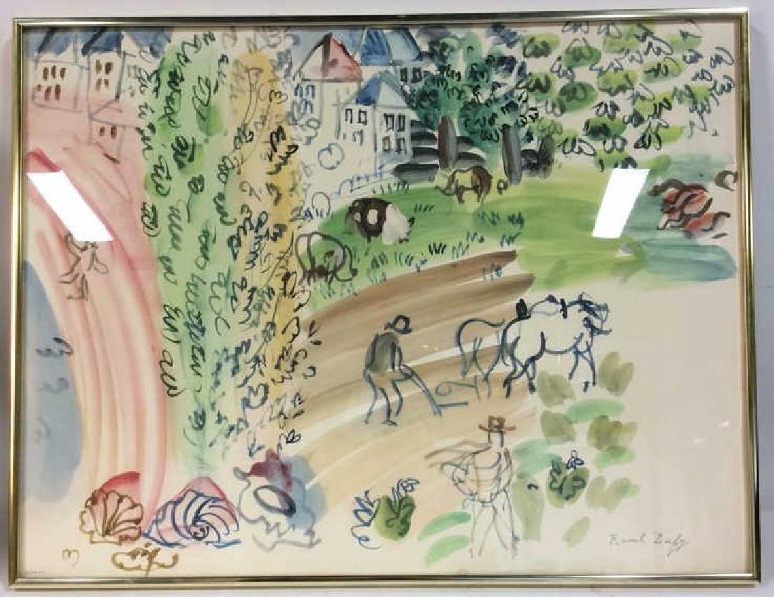 Raoul Dufy Art Print The Village Garden