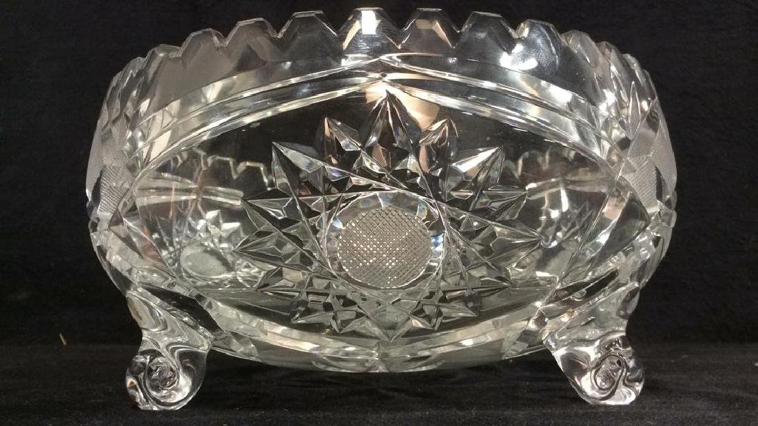 Footed Cut Crystal Bowl - 2