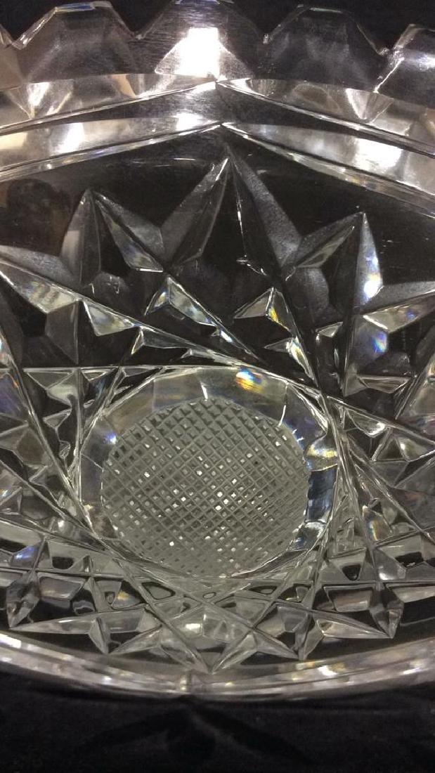 Footed Cut Crystal Bowl - 4