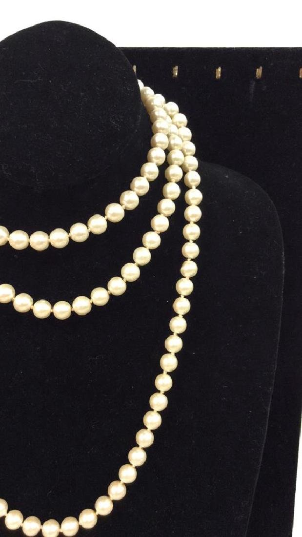 Lot 2 Pearl Beaded Necklaces - 7