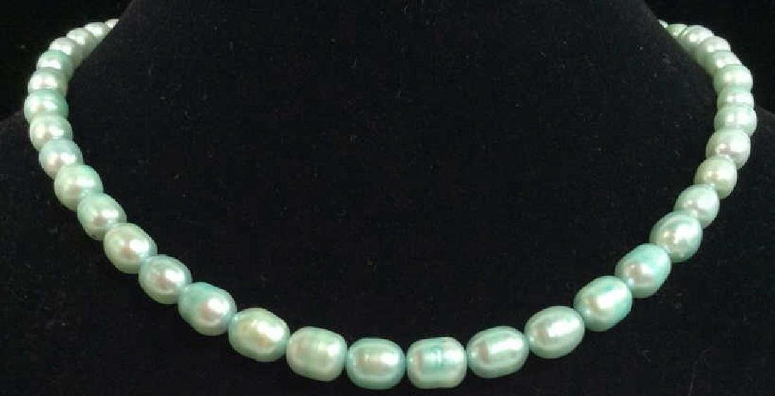 Lot 2 Pearl and Natural Stone Beaded Necklaces - 2