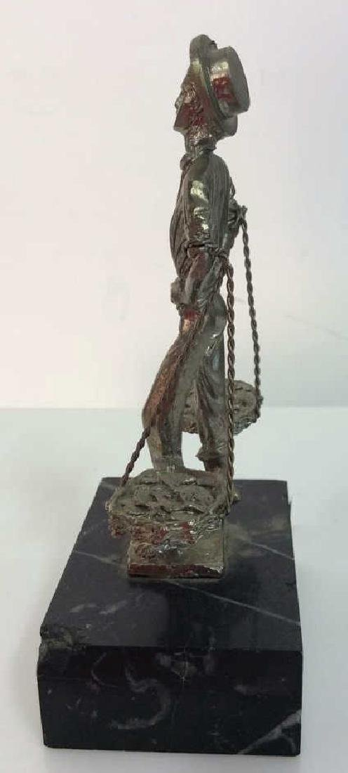 Lot 3 Silver Toned Metal Figurines Collectibles - 3