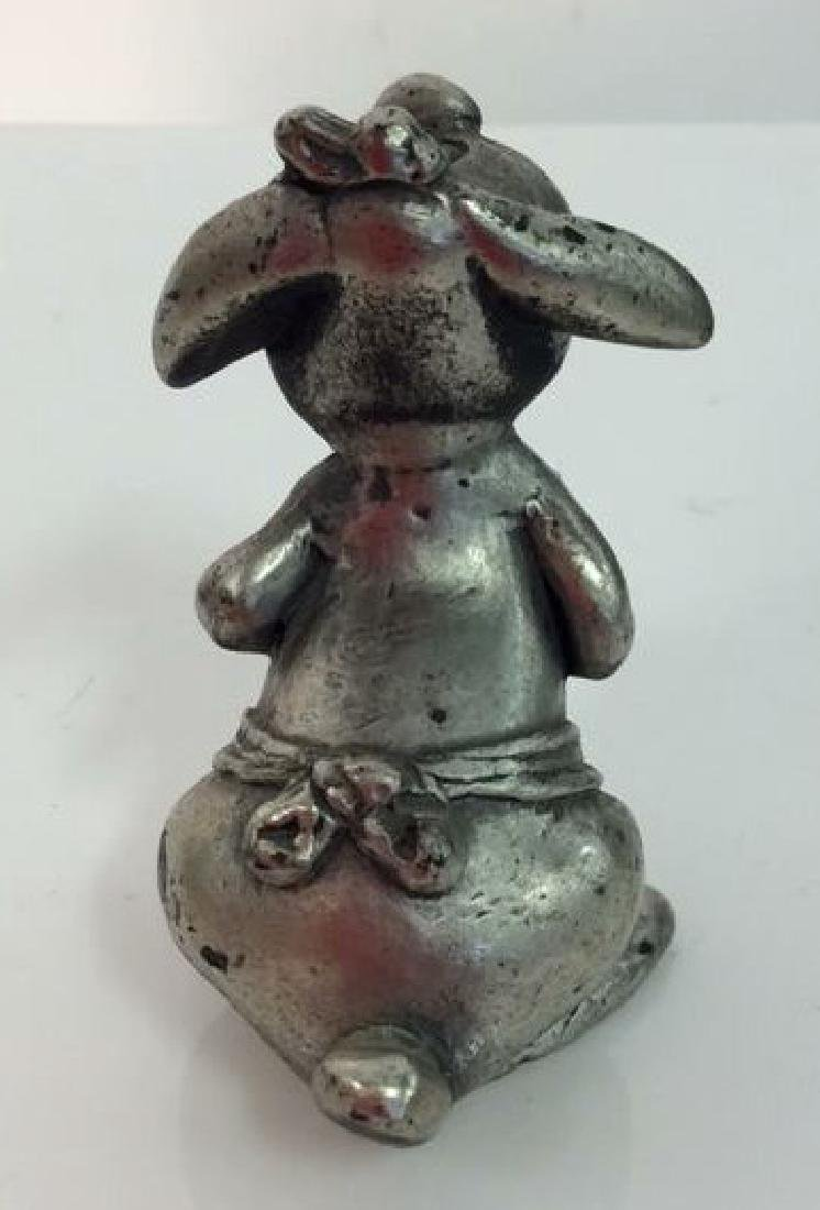 Lot 3 Silver Toned Metal Figurines Collectibles - 7