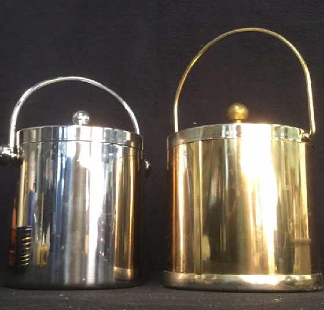 Lot 2 Lidded Handled Ice Buckets - 2