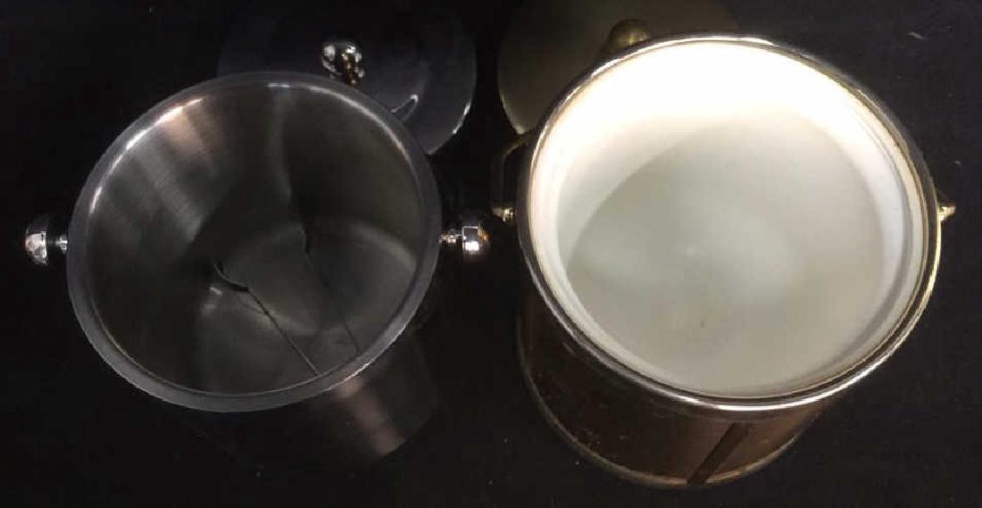 Lot 2 Lidded Handled Ice Buckets - 5