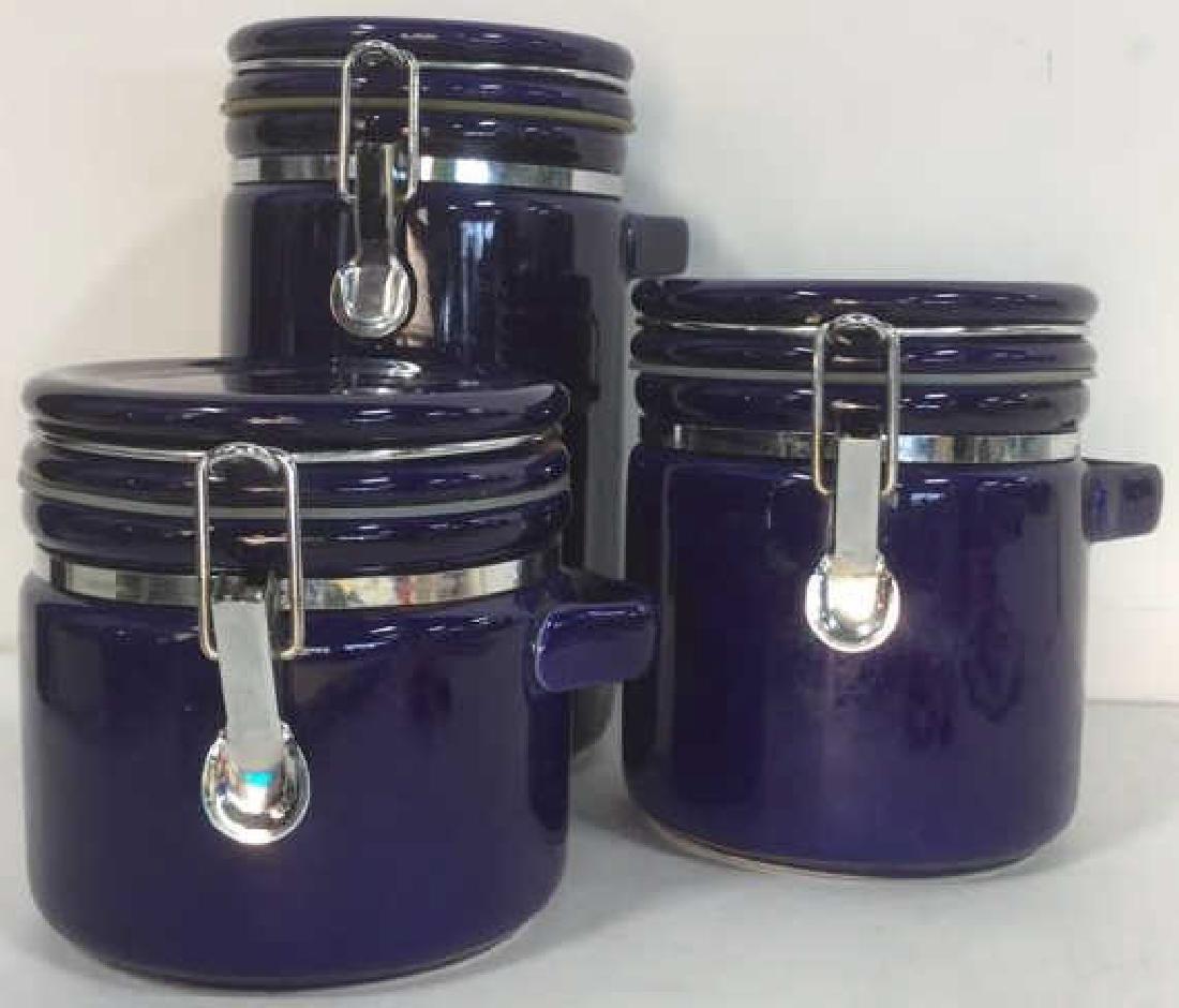 Lot 3 Royal Blue WINSOME Spice Jars