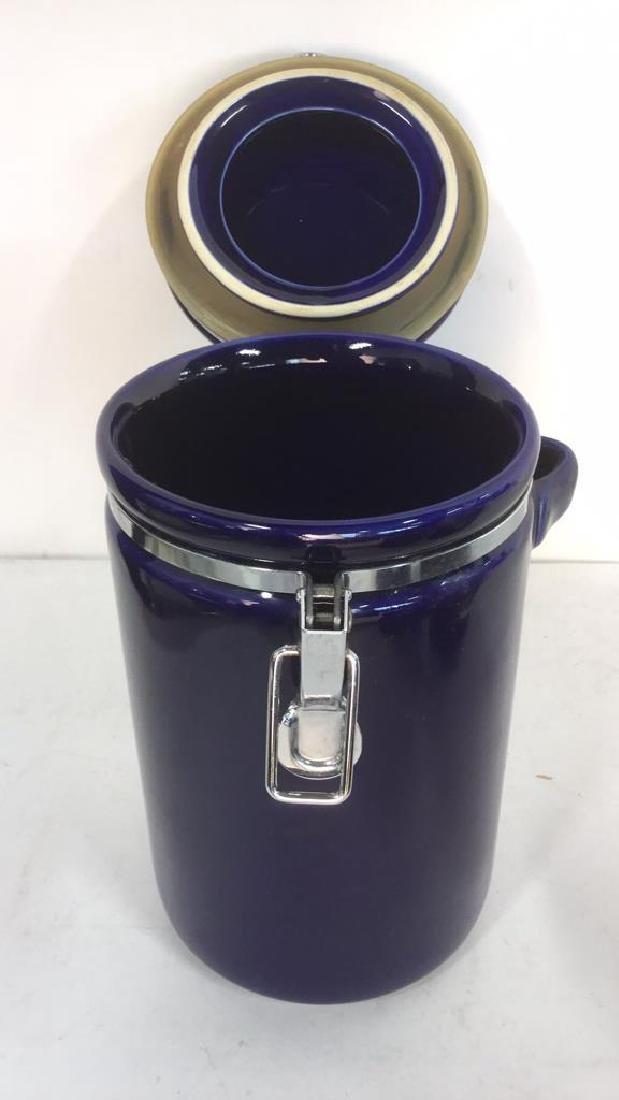 Lot 3 Royal Blue WINSOME Spice Jars - 3