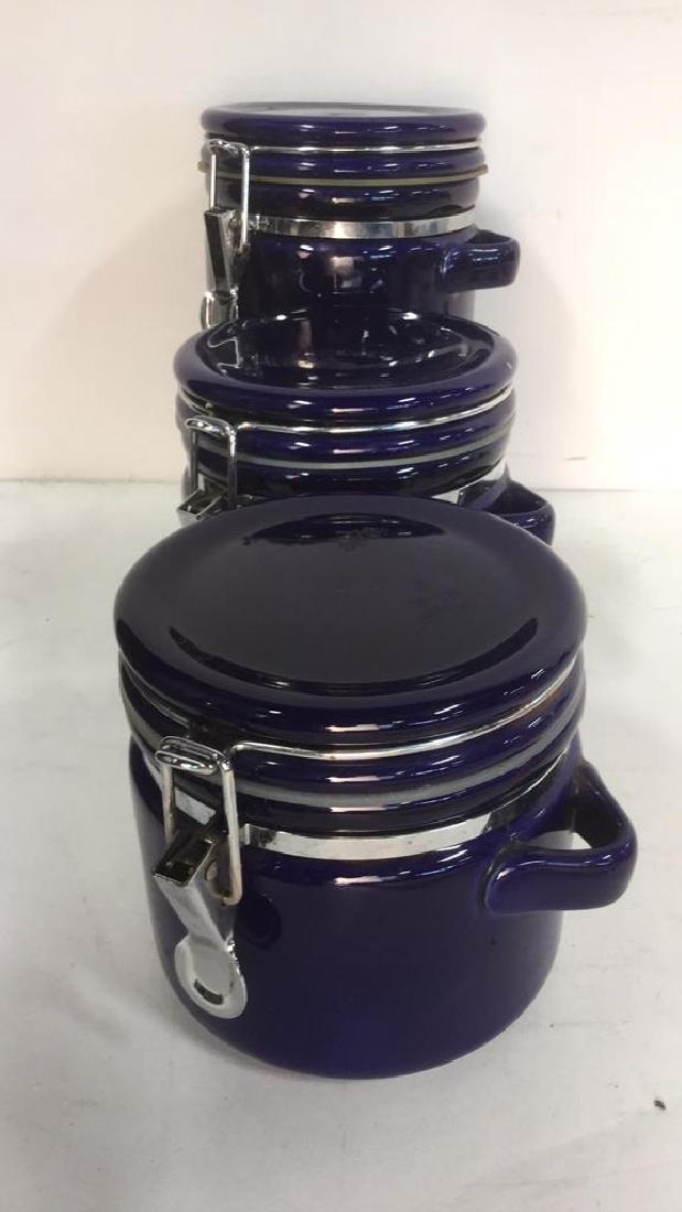 Lot 3 Royal Blue WINSOME Spice Jars - 5
