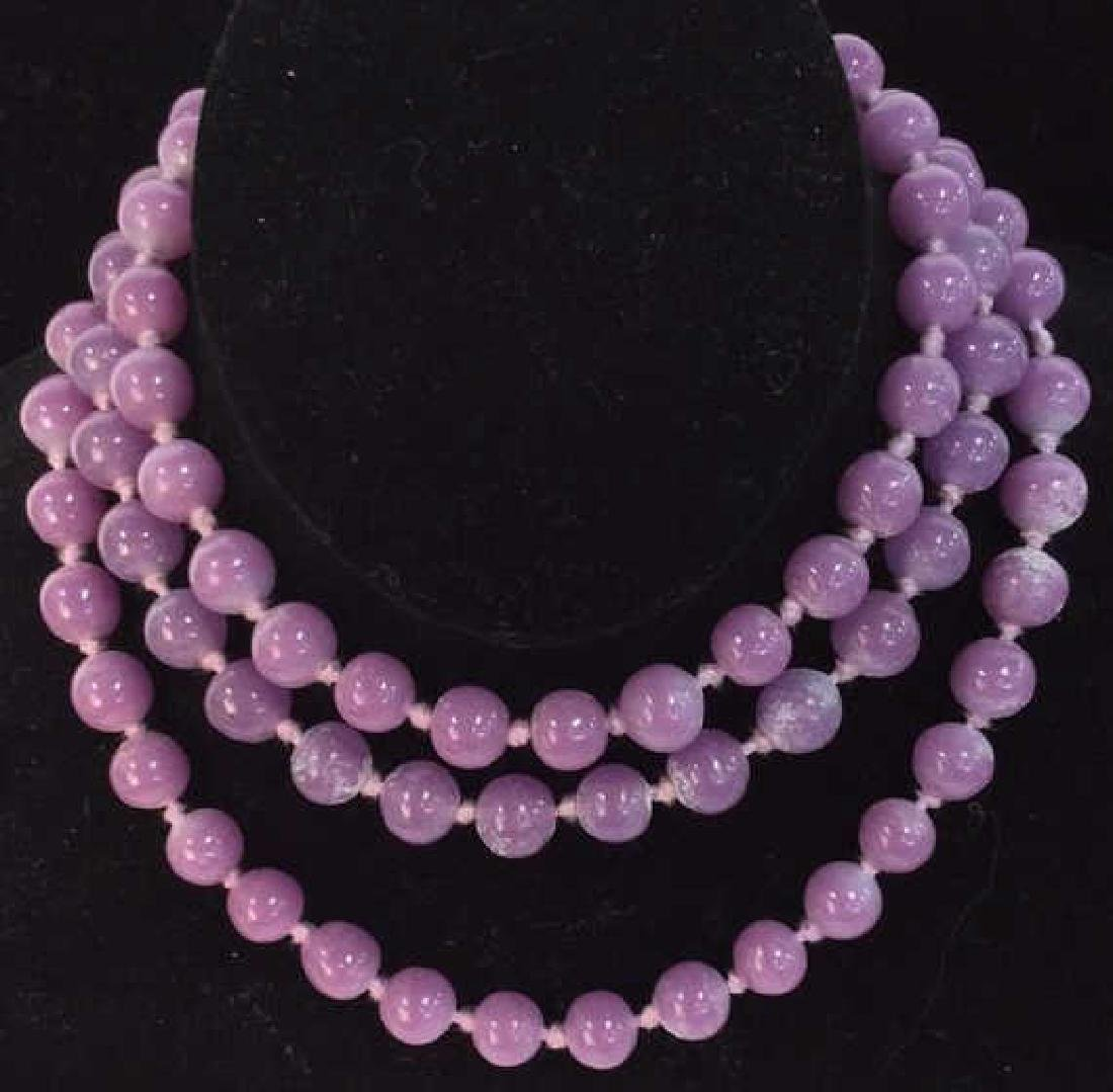 Purple Tones Natural Stone Beaded Necklace