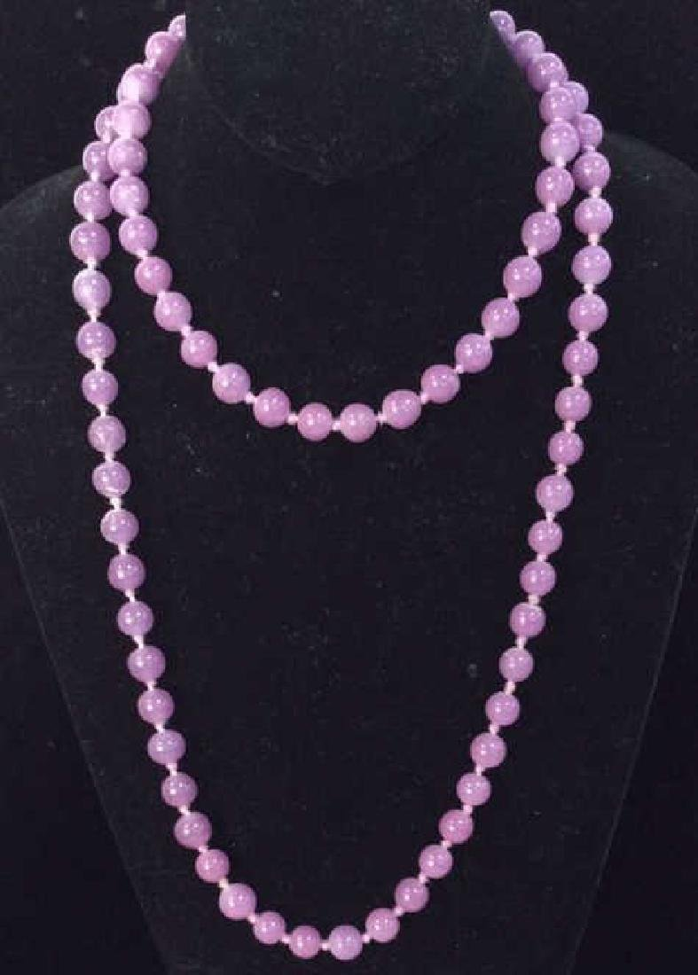 Purple Tones Natural Stone Beaded Necklace - 2