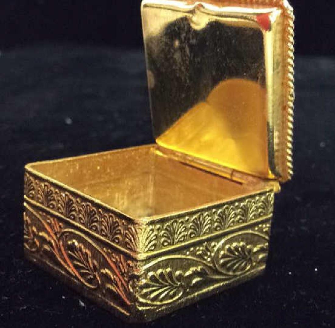 Lot 2 Gold Toned Metal w Glass Mosaic Acc - 8