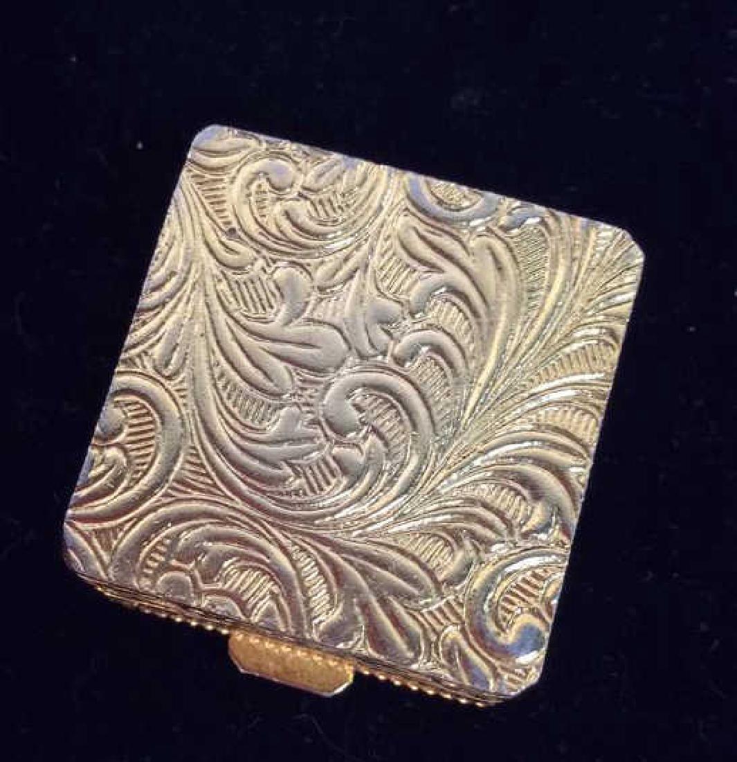 Lot 2 Gold Toned Metal w Glass Mosaic Acc - 9